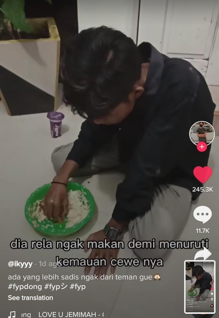 Sedih! Pria Ini Rela Menahan Lapar demi Pacar, Berakhir Diputusin
