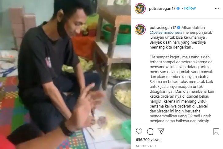 Pria Ini Nangis Karena 60 Pesanan Nasi Kotak Dibatalkan
