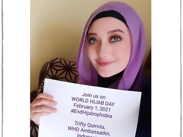 Aksi World Hijab Day.