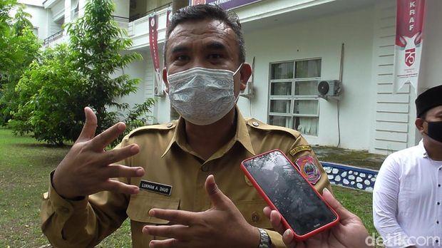 Kepala Dinas Pariwisata dan Ekonomi Kreatif Kabupaten Bone Bolango Lukman A Daud (Ajis/detikcom).