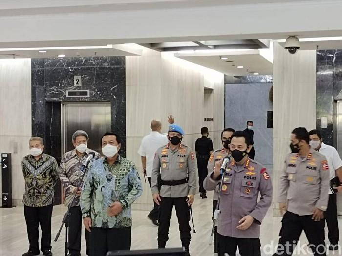 Ketua MA M Syarifuddin dan Kapolri Jenderal Listyo Sigit