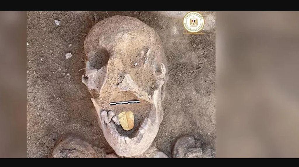 Mumi Berlidah Emas Ditemukan, Usianya 2.000 Tahun