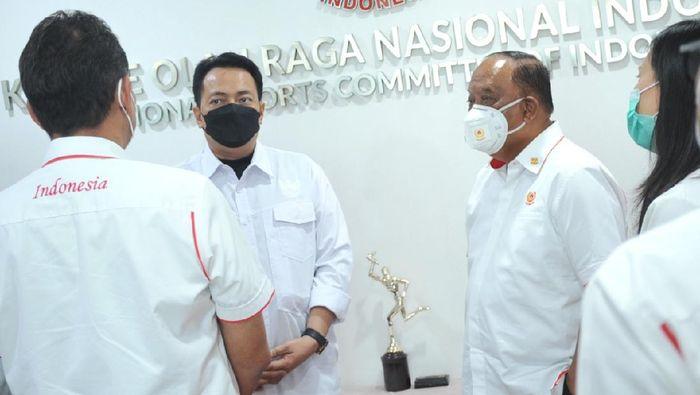 KONI menjajaki kerjasama dengan Lembaga Pengelola Dana dan Usaha Keolahrgaan (LPDUK). Mereka juga berniat membangun industri olahraga nasional.