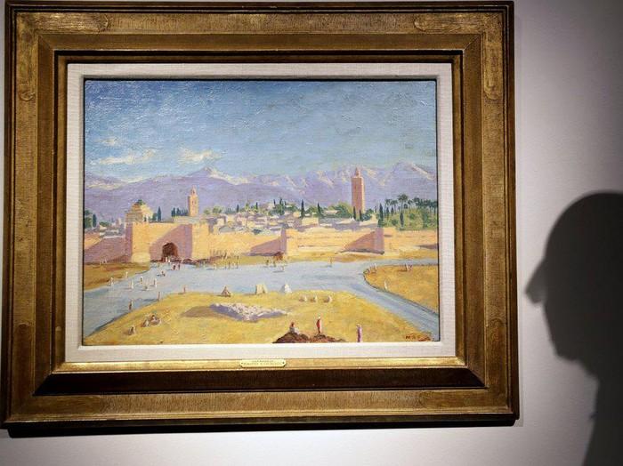 Lukisan Masjid Maroko Karya Winston Churchill Dijual Angelina Jolie