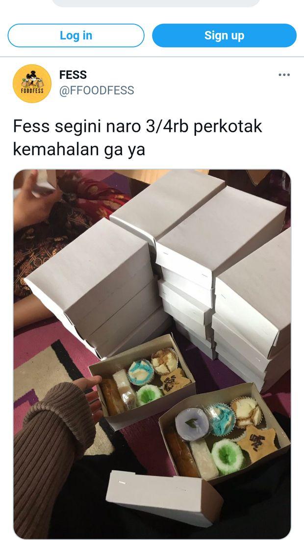 Penjual Kue Tawarkan Snack Box Rp 3.000, Jualan atau Sedekah?
