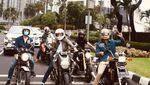 Intip Gaya Sunmori Raffi Ahmad dan Gading Marten Naik Motor Gede