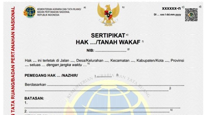 Menteri ATR sekaligus Kepala BPN Sofyan Djalil menerbitkan Permen ATR Nomor 1/2021 tentang Sertifikat Elektronik. Dengan adanya aturan ini, sertifikat tanah akan diganti elektronik. Begini penampakan sertifikatnya.