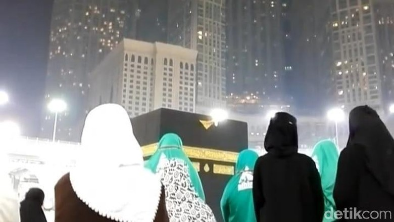 Jemaah umroh di Mekkah Al Mukarromah