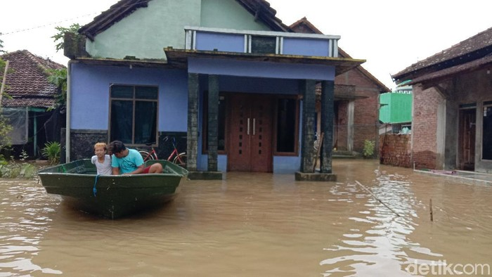 Kondisi terkini banjir di Desa Kedungdowo Kecamatan Kaliwungu, Kudus, Rabu (3/2/2021).