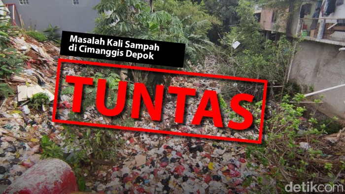 Masalah sampah di Kali Baru Cijantung, Cimanggis, Depok, telah tuntas. (Mindra Purnomo/Infografis detikcom)