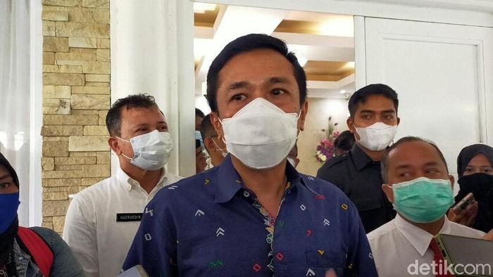 Pj Walkot Makassar Rudy Djamaluddin (Ibnu Munsir/detikcom).