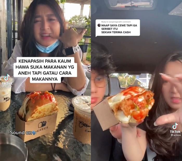 Ribet Tak Bisa Makan Roti Karena Mulutnya Kecil, Cewek Ini Bikin Netizen Kesal