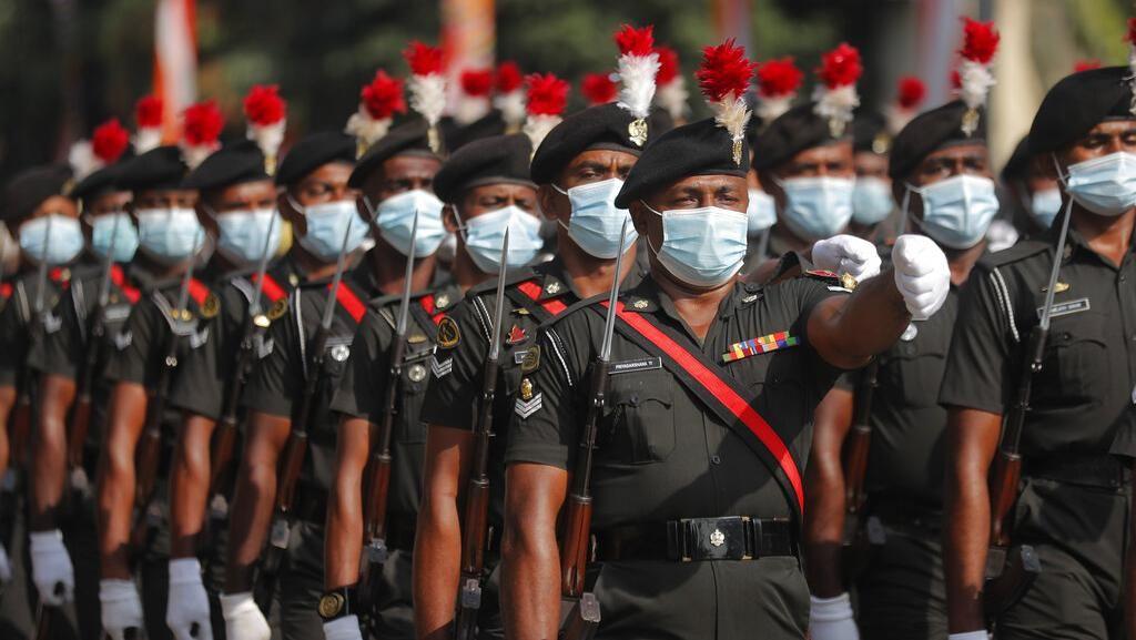 Jelang Hari Kemerdekaan, Tentara Sri Lanka Latihan Parade