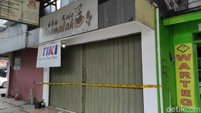 Suasana pasar Muamalah usai pendirinya ditangkap polisi (Azhar/detikcom)