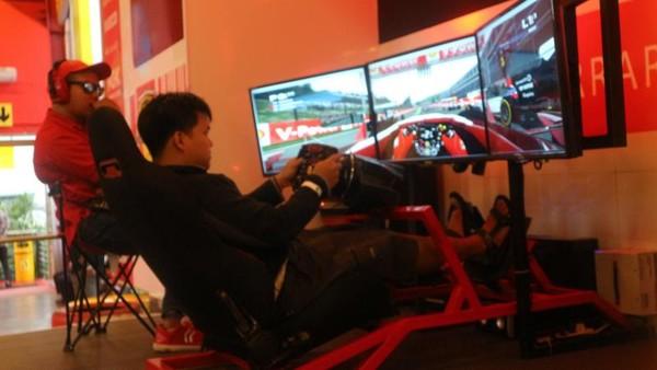 Simulator mobil F1 yang ada di museum angkut