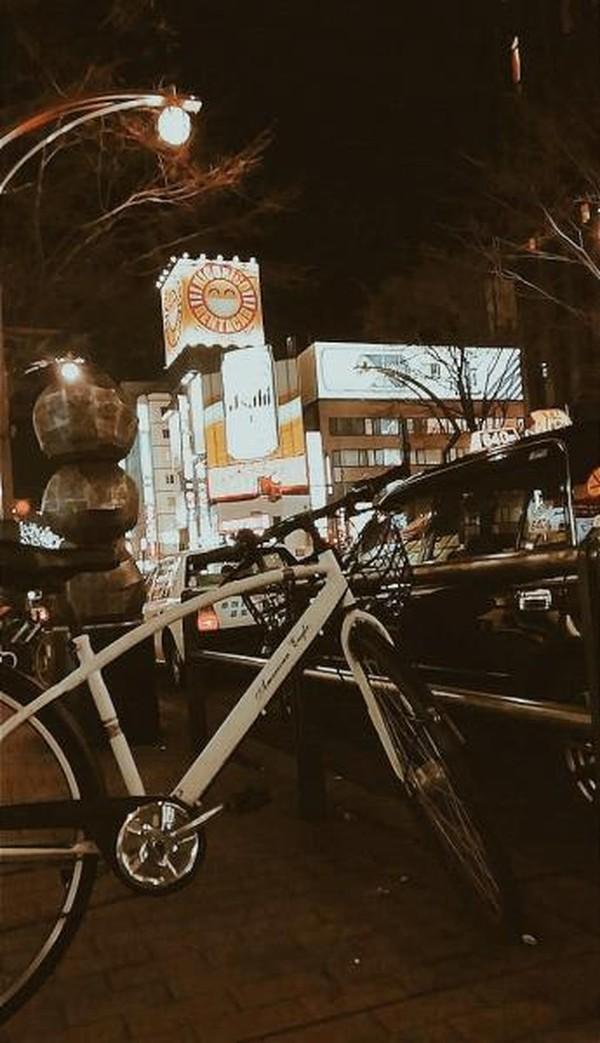 Bersepeda di Sapporo saat winter ditemani dengan  salju tentu akan menjadi pengalaman yang tak terlupakan