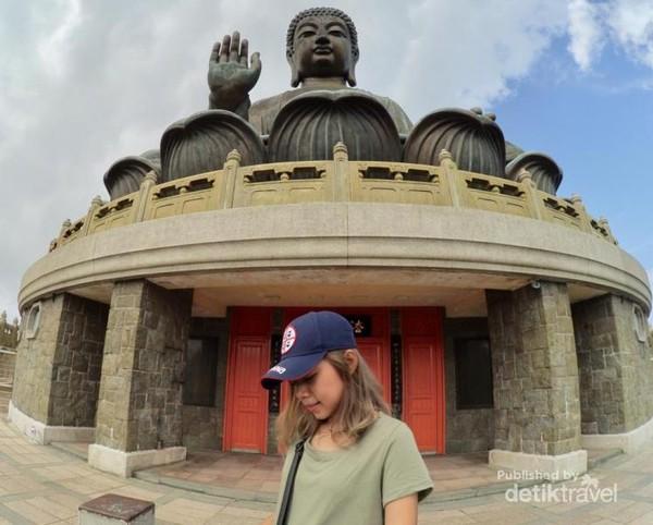 Selfie didepan The Big Buddha