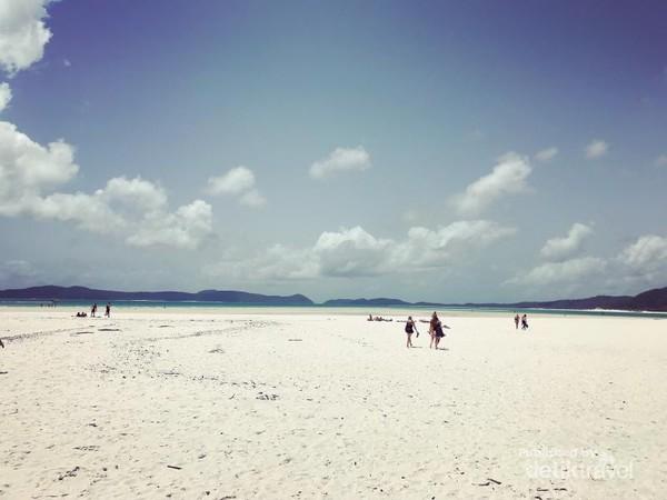 Pantai yang menjadi bagian dari Taman Nasional Pulau Kepulauan Whitsunday memang memiliki pasir yang seputih kapas dengan air lautnya yang super jernih.