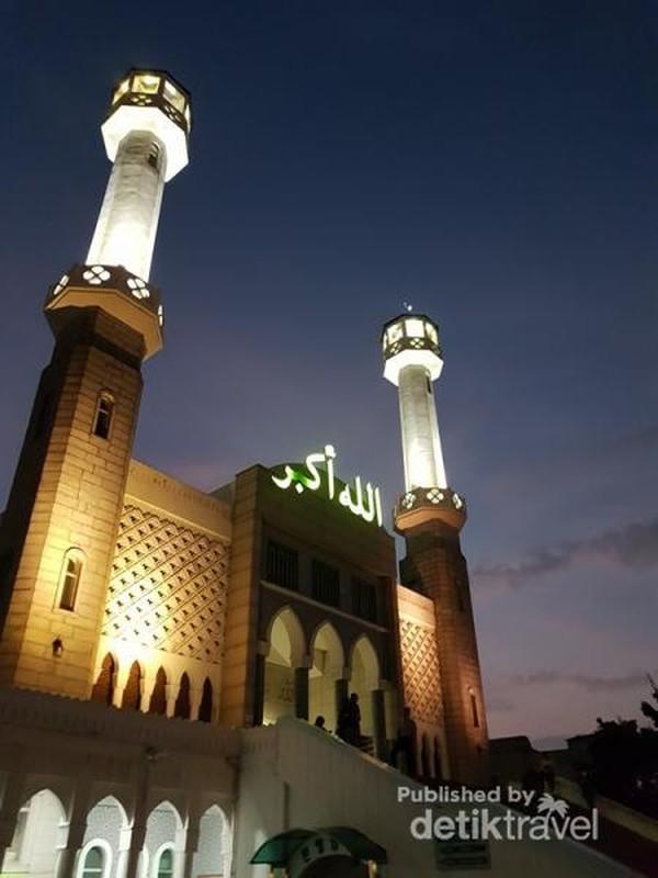 Suasana Seoul Central Masjid ketika waktu Maghrib tiba