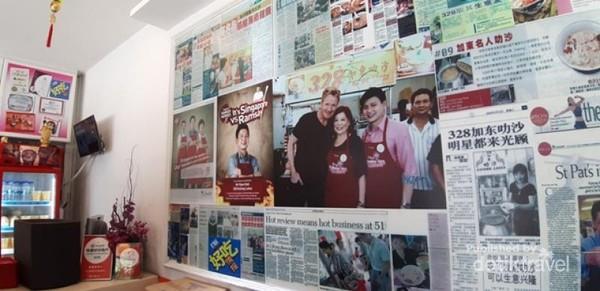 Wall-of-fame di sepanjang sisi restoran
