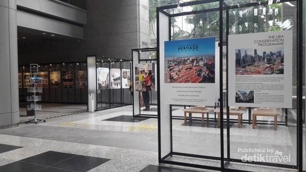 Potret-potret perkembangan kota Singapura