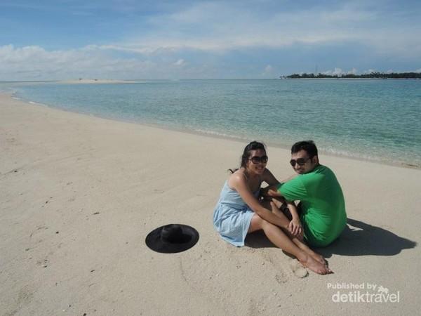 Puas berfoto ria di Pulau Gusung