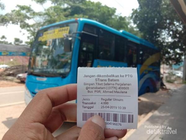 Naik Bus Trans Batam hanya 4000 Saja sudah bisa keliling Batam