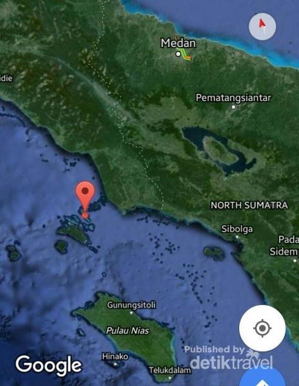 Lokasi Kepulauan Banyak