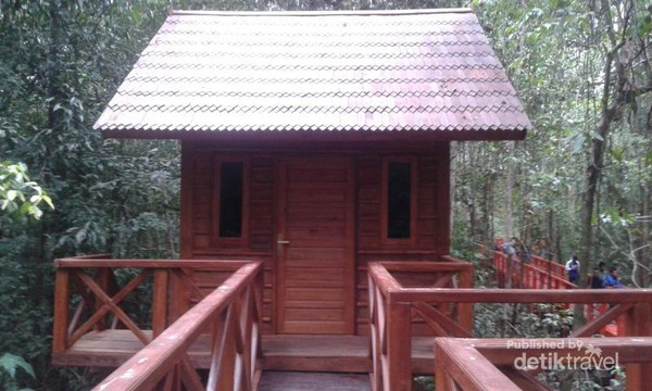 Sebuah pondok dalam Hutan Pelawan.