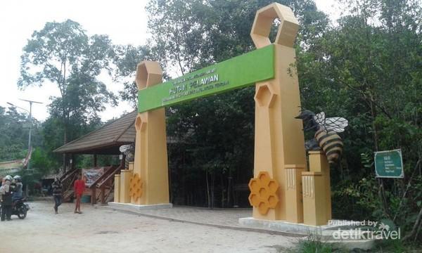 Gerbang masuk Hutan Pelawan.