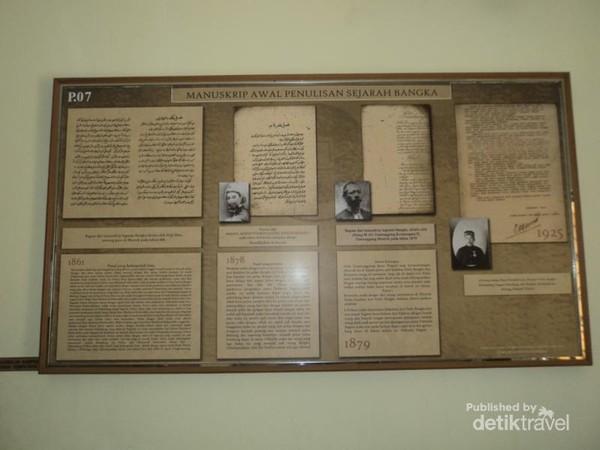 Manuskrip awal penulisan sejarah Bangka.