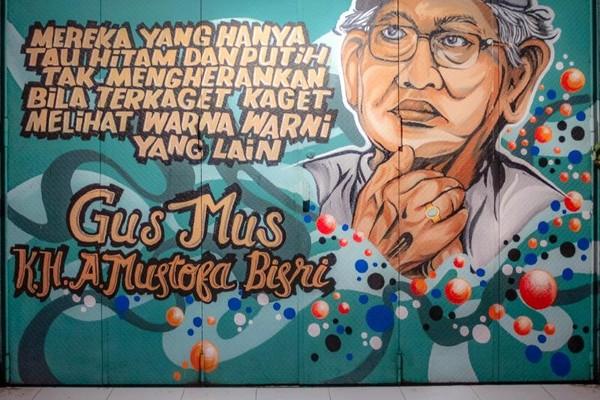 Salah satu mural yang berada di Koridor GatSu Solo