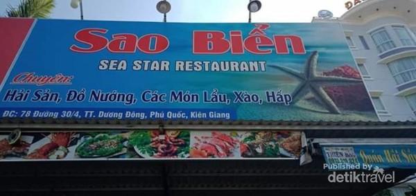 Sao Bien Restaurant, tempat makan siang pertama saya di Phu Quoc.