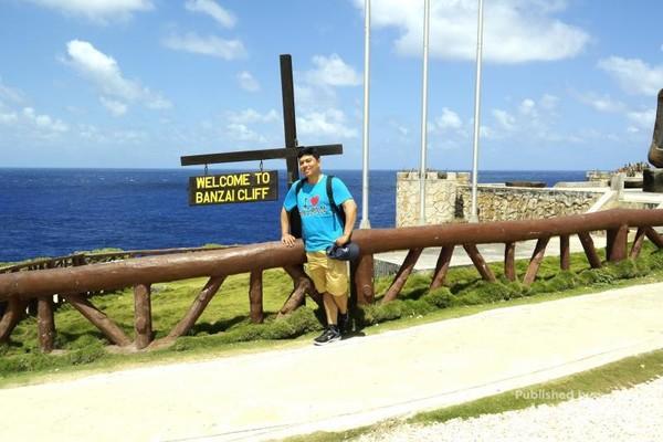 Banzai Cliff, di tempat ini untuk pertama kalinya saya melihat Samudera Pasifik