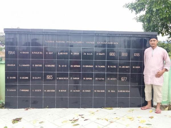 Prasasti Nama Pahlawan yang dimakamkan di Taman Makam Pahlawan Telabang Bangsa
