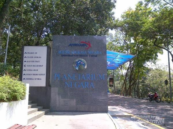 Planetariun Negara yang berdekatan dengan Taman TasikPerdana