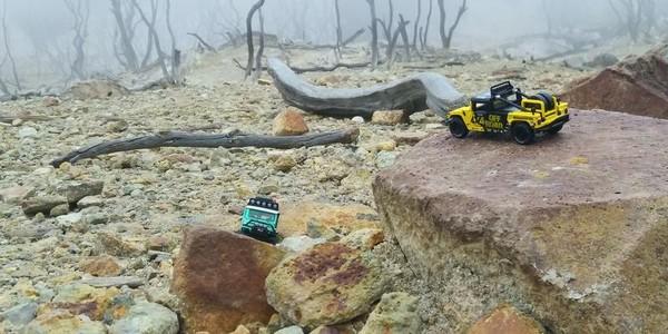 Diecast di Hutan mati Gunung Papandayan