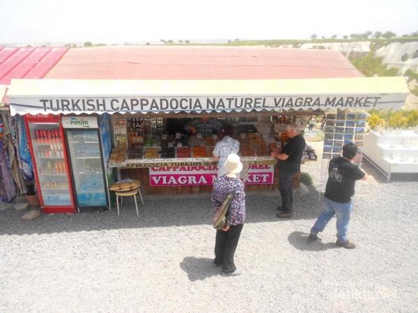 Liburan ke Turki, traveler mungkin menjumpai toko viagra di Cappadocia. Ini bukan toko obat kuat pria biasa, melainkan toko yang menjual buah dan herbal aprodisiak.
