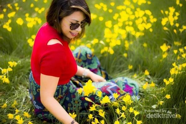 Bunga Gladiol ini seakan ikut mempercantik setiap sudut dari Kabupaten TTS.