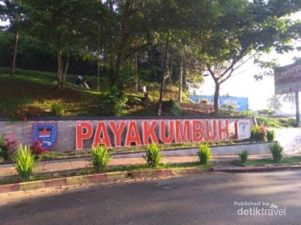 Ucapan selamat datang di rest area Payakumbuh