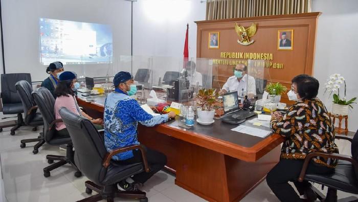 Pertemuan GMKI dengan Menteri LHK Siti Nurbaya, Kamis (4/2/2021).