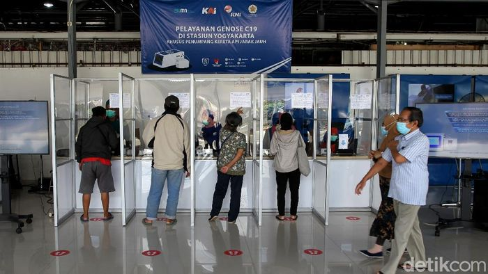 Alat tes COVID-19, GeNose C-19 mulai diuji coba di dua stasiun kereta Indonesia. Salah satunya di Stasiun Tugu Yogyakarta.