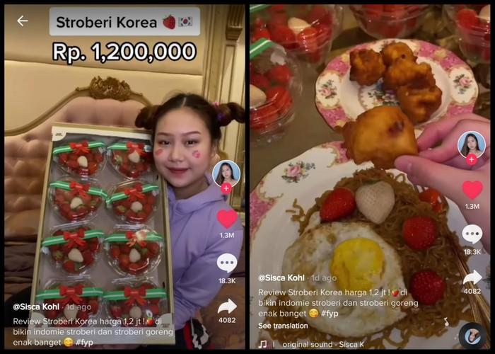 Beli Stroberi Korea Rp 1,2 Juta, Netizen Ini Bikin Indomie Stroberi!