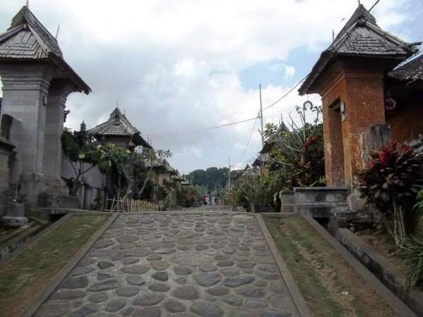 Tanjangan desa yang bersih dan indah berseni