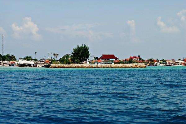 Foto rumah penduduk di Pulau Harapan