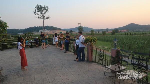Banyak pengunjung yang datang sekedar untuk berfoto dan menikmati pemandangan