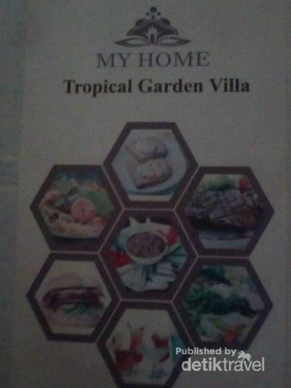 Menu yang ditawarkan di My Home Tropical garden.