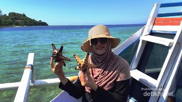 Gili Sudak Sekotong Lombok Barat, bermain dengan