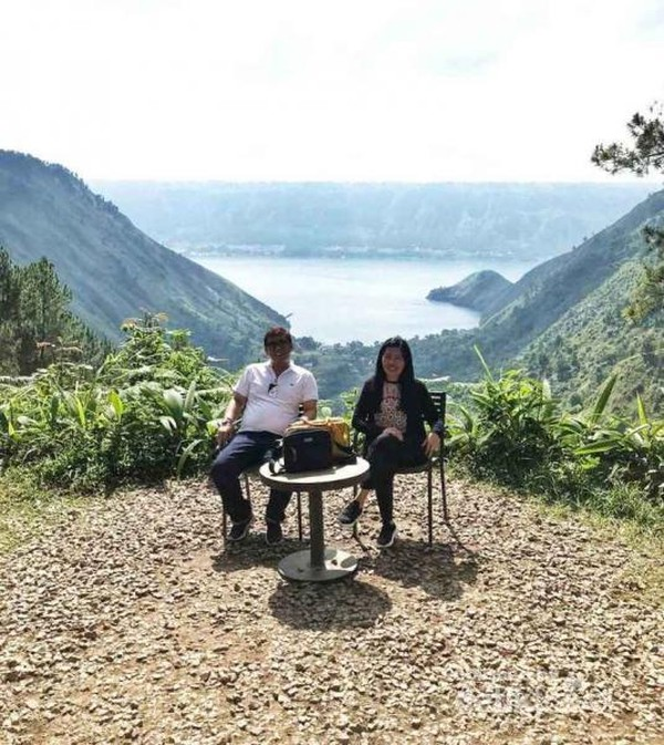 Bapak Presiden Jokowi dan Ibu Iriana duduk disini saat berkunjung ke Kaldera.
