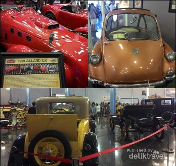 Berbagai mobil unik dan vintage berjejer rapi di Museum Angkut